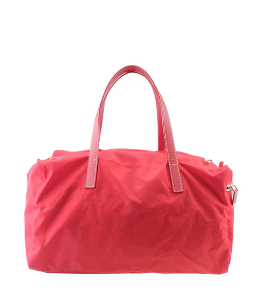 0e6416bf68f3 ... Prada Bowler Red Solid Nylon Satchel ...