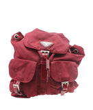 Prada Nylon Backpack Burgundy Nylon Backpack