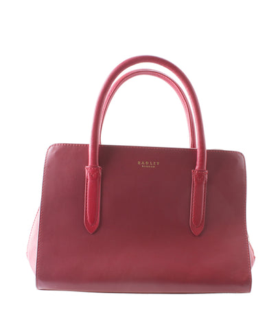 Radley & Co Liverpool Street Zip-top Red Leather 2-Way Bag