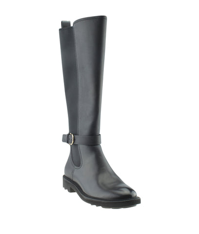 Salvatore Ferragamo Furseo Black Leather Knee - High Boots, Size 8.5