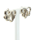 Tiffany & Co. Sterling Silver Tripple Heart Earrings