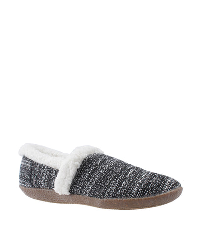 TOMS Slipper White & Black Denim Flats, Size 6