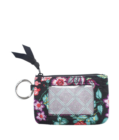 Vera Bradley Iconic Zip Multi-Color Floral ID Coin Pouch