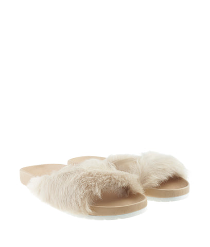 Vince Garrison Tan Fur Sandals, Size 6