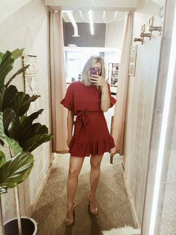 going out red dress reno