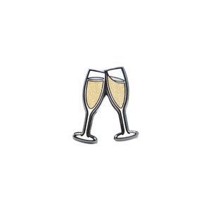 Champagne Toast Lapel Pin