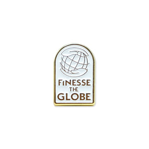 Finesse The Globe Lapel Pin