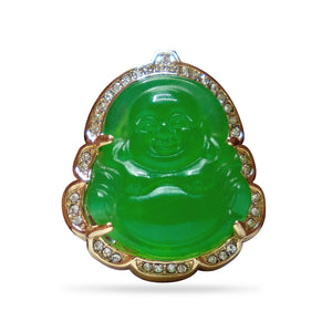Green Buddha Lapel Pin
