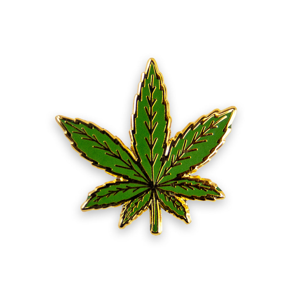 Green Leaf Lapel Pin.