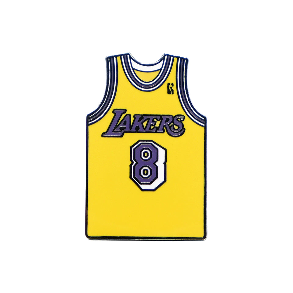 Kobe Bryant 8 Lakers Jersey Lapel Pin