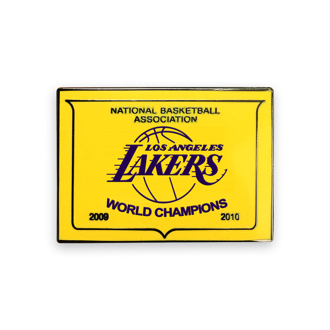 Lakers Championship Banner Lapel Pin.