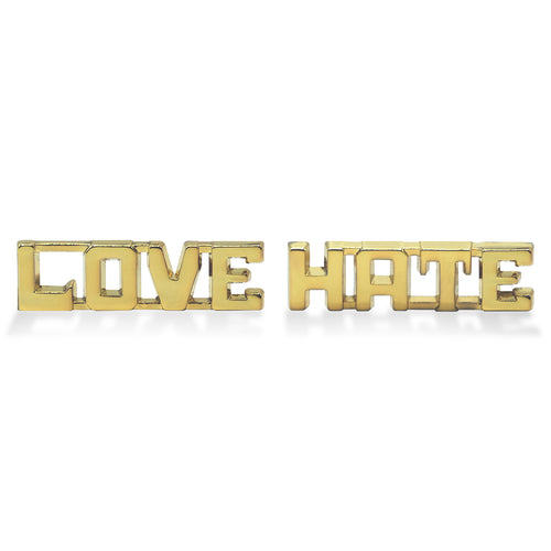 Love/Hate 3D Lapel Pins