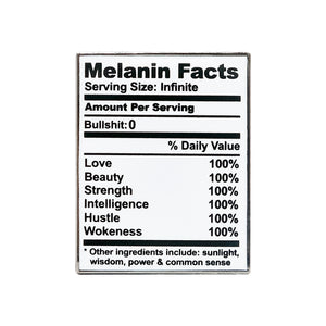 Melanin Facts Lapel Pin