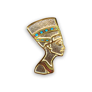 Queen Nefertiti Lapel Pin.