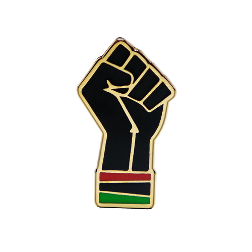 RGB Fist Lapel Pin
