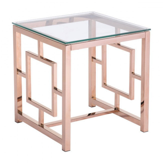 Geranium Side Table - Rose Gold