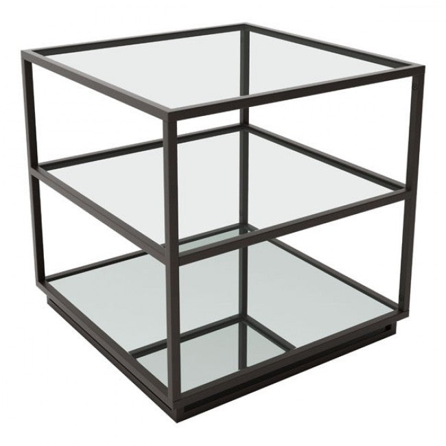 Kure End Table - Distressed Black