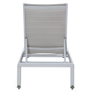 M201 Ribbed Outdoor Chaise Lounge