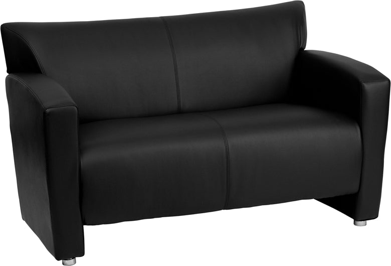 HERCULES Majesty Series Black Leather Loveseat