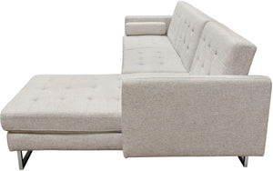 Diamond Sofa Opus Convertible Tufted Right-Facing Chaise Sectional Sofa
