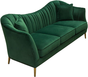 "Diamond Sofa Ava 93"" Sofa with Gold Leg"