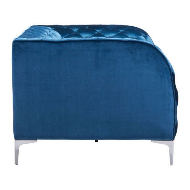 Providence Arm Chair Blue Velvet