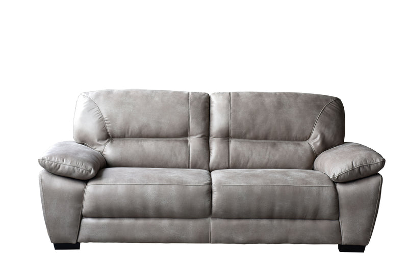 Avanti Taupe Soft-Touch Fabric Sofa