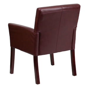 Flash Furniture Contemporary Leather Chair with Mahogany Legs
