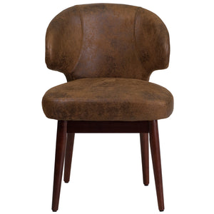 Flash Furniture Contemporary Comfort Back Series Leather Side Chair