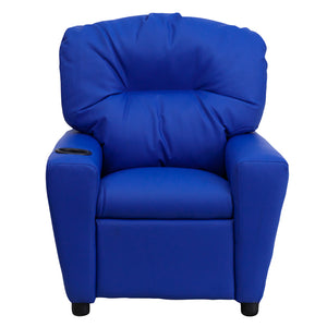 Flash Furniture Kids Contemporary Vinyl Recliner with Cup Holder
