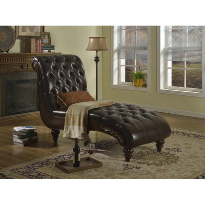 Bellini Leather Chaise Lounge