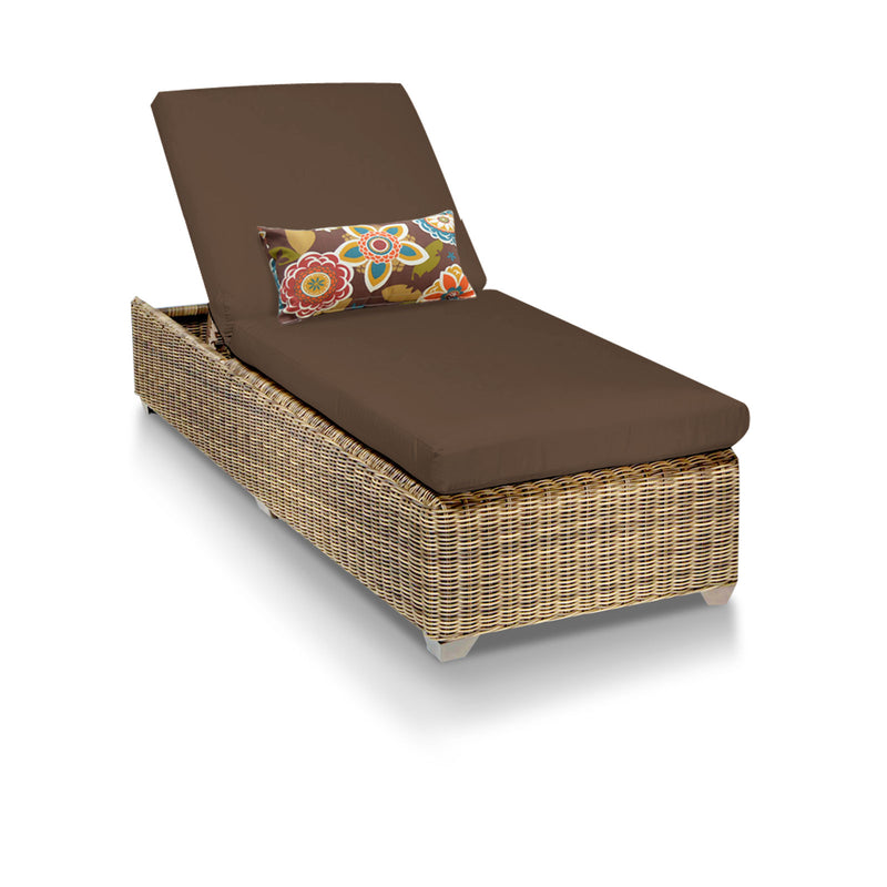 Cape Cod Outdoor Chaise Lounge - Cocoa