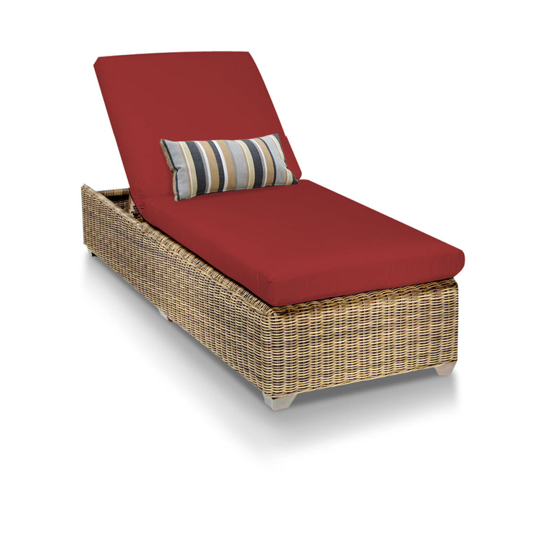 Cape Cod Outdoor Chaise Lounge - Terracotta