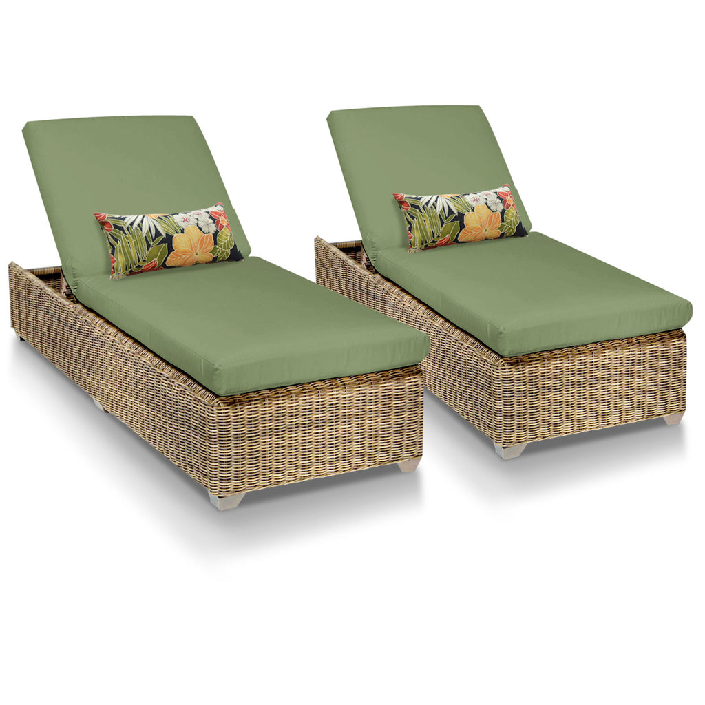 Cape Cod Outdoor Chaise Lounge - Cilantro (Set of 2)