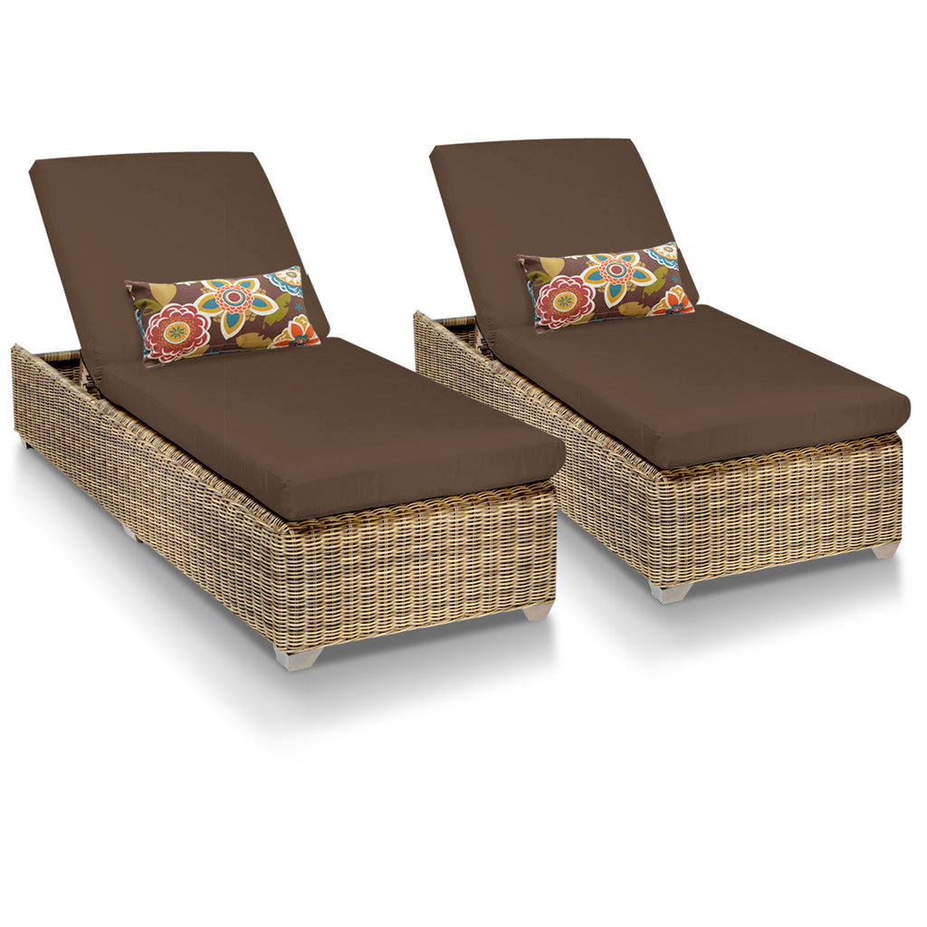 Cape Cod Outdoor Chaise Lounge - Cocoa (Set of 2)