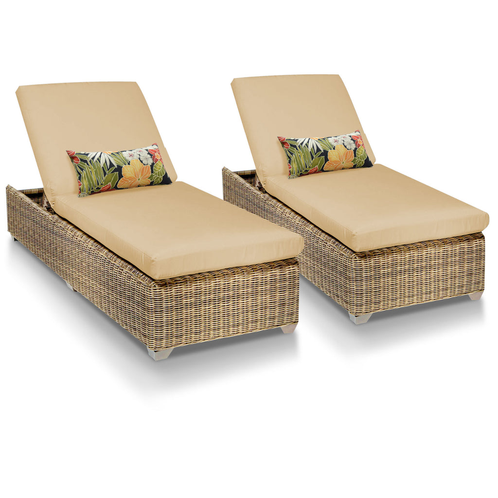 Cape Cod Outdoor Chaise Lounge - Sesame (Set of 2)