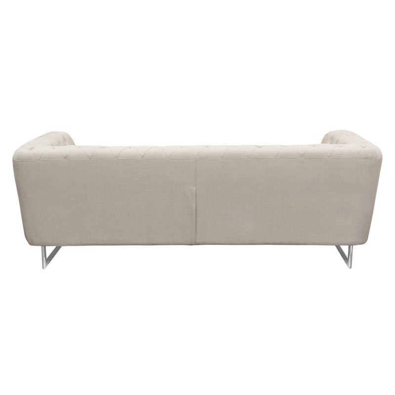 Catalina Tufted Sofa with Metal Leg in Sand Fabric