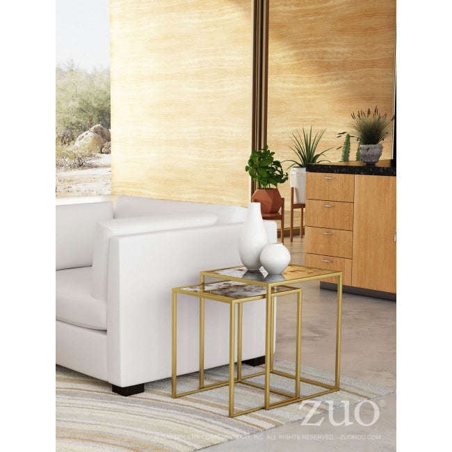 Calais Nesting Tables -  Brass