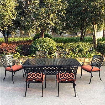 ComfortCare 7-Piece Dining Set w/Cast Aluminum Rectangle Table