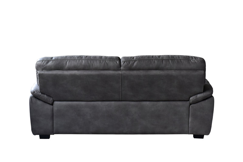 Avanti Dark Grey Soft-Touch Fabric Sofa