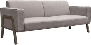 "Diamond Sofa Blair 84"" Sofa in Gray Fabric with Curved Wood Leg Detail"