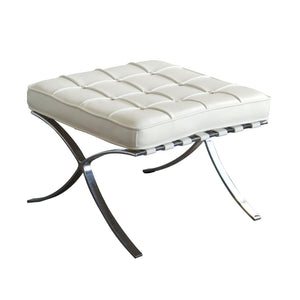 Diamond Sofa Cordoba Tufted Ottoman with Stainless Steel Frame