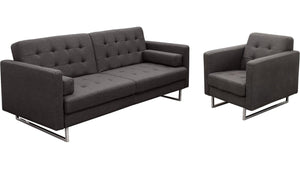 Diamond Sofa Opus Convertible Tufted 2-Piece Sofa & Chair Set