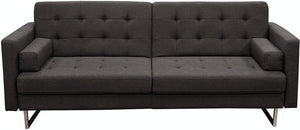 "Diamond Sofa Opus 87"" Convertible Tufted Sofa"