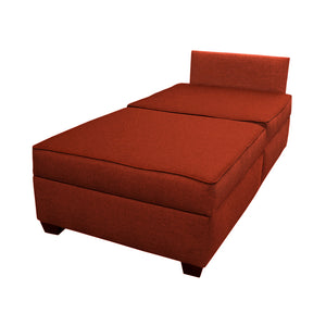 "DuoBed Modular Storage Chaise Lounge, 36"" (Brick Red)"