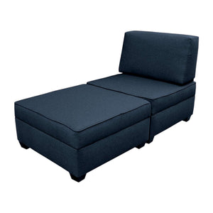 "DuoBed Modular Storage Chaise Lounge, 30"" (Deep Ocean Blue)"