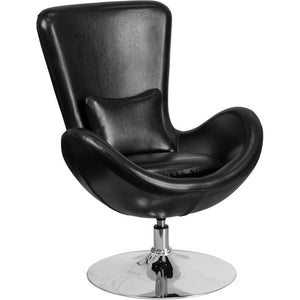 Flash Furniture Egg Series Leather Side Chair
