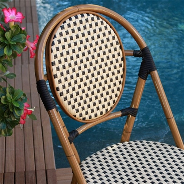 FRENCH Bistro Stacking Chair PARIS - Set of 6 (Black)