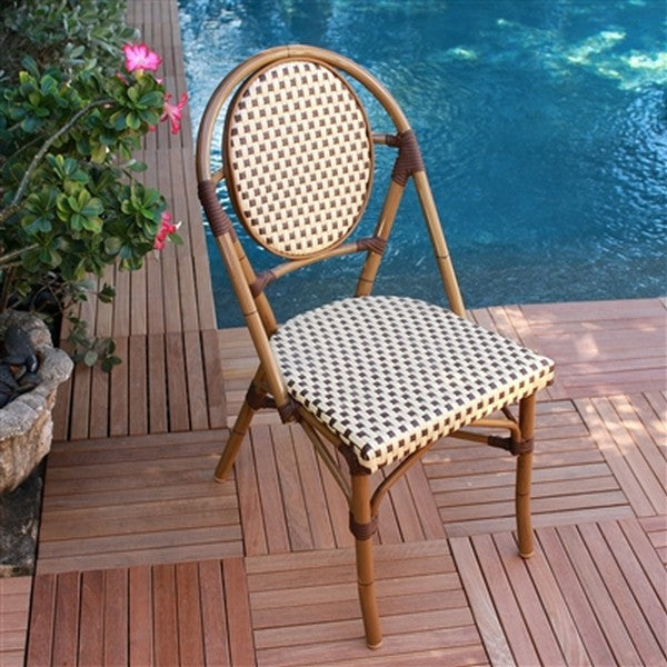 FRENCH Bistro Stacking Chair PARIS - Set of 6 (Brown)