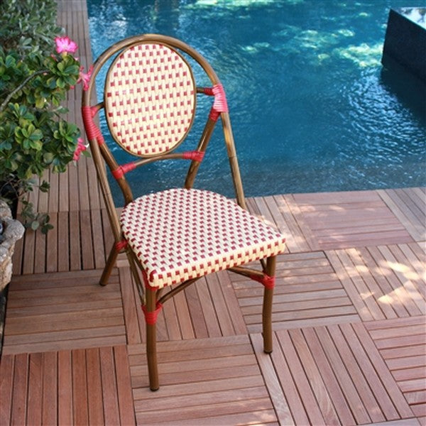 FRENCH Bistro Stacking Chair PARIS - Set of 6 (Red)